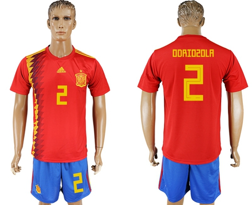 Spain #2 Odriozola Home Soccer Country Jersey