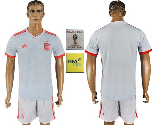 Spain Blank Away Soccer Country Jersey