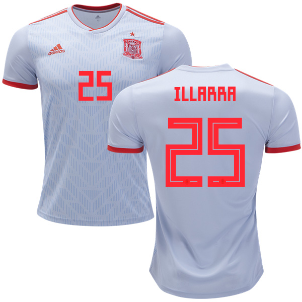 Spain #25 Illarra Away Soccer Country Jersey