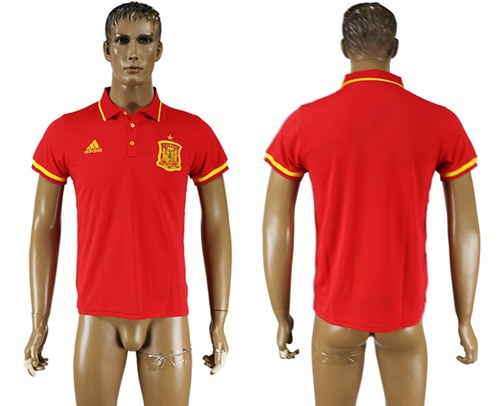 Spain Blank Red Soccer Country Polo