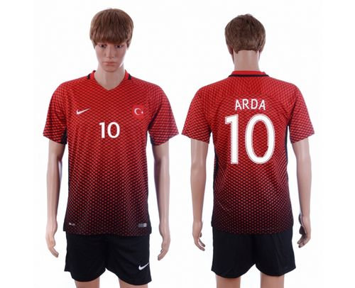 Turkey #10 Arda Home Soccer Country Jersey