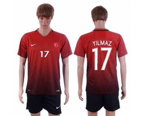 Turkey #17 Yilmaz Home Soccer Country Jersey