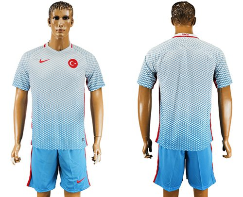 Turkey Blank Away Soccer Country Jersey