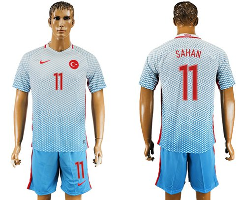 Turkey #11 Sahan Away Soccer Country Jersey