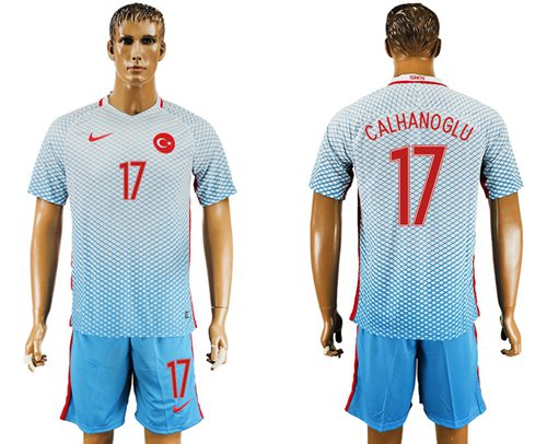 Turkey #17 Calhanoglu Away Soccer Country Jersey