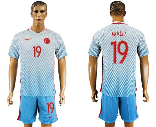 Turkey #19 MALLI Away Soccer Country Jersey