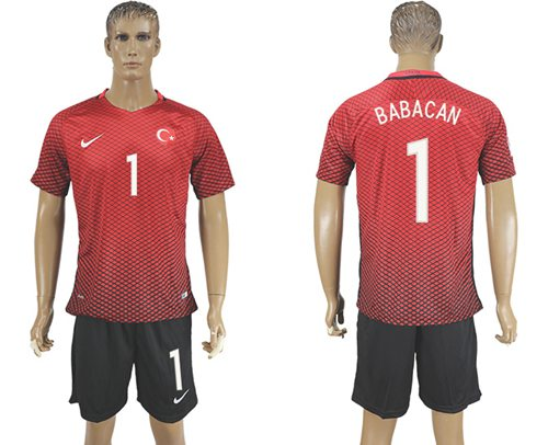 Turkey #1 Babacan Home Soccer Country Jersey