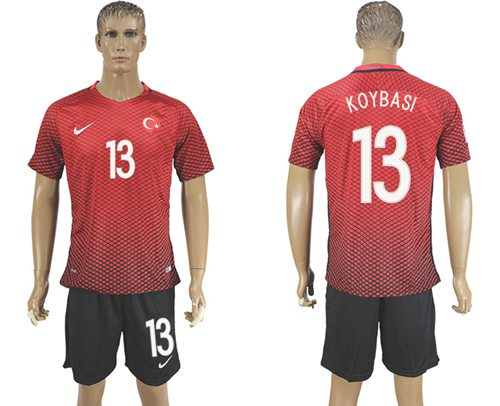 Turkey #13 Koybasi Home Soccer Country Jersey