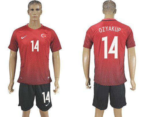Turkey #14 Ozyakup Home Soccer Country Jersey