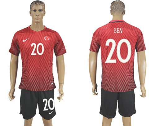 Turkey #20 Sen Home Soccer Country Jersey