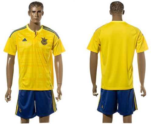 Ukraine Blank Home Soccer Country Jersey
