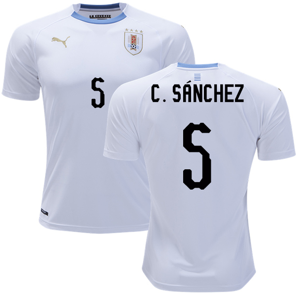 Uruguay #5 C.Sanchez Away Soccer Country Jersey