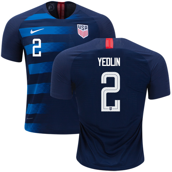 USA #2 Yedlin Away Soccer Country Jersey