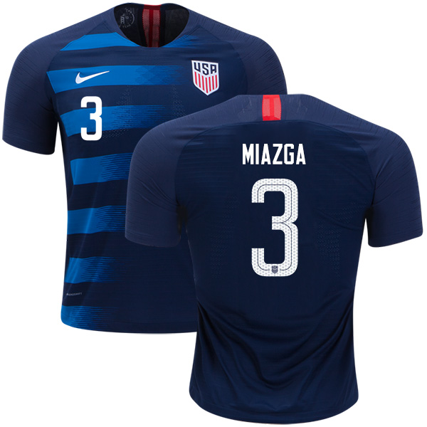 USA #3 Miazga Away Soccer Country Jersey