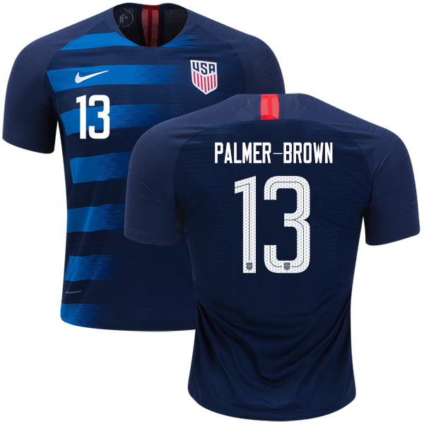 USA #13 Palmer-Brown Away Soccer Country Jersey