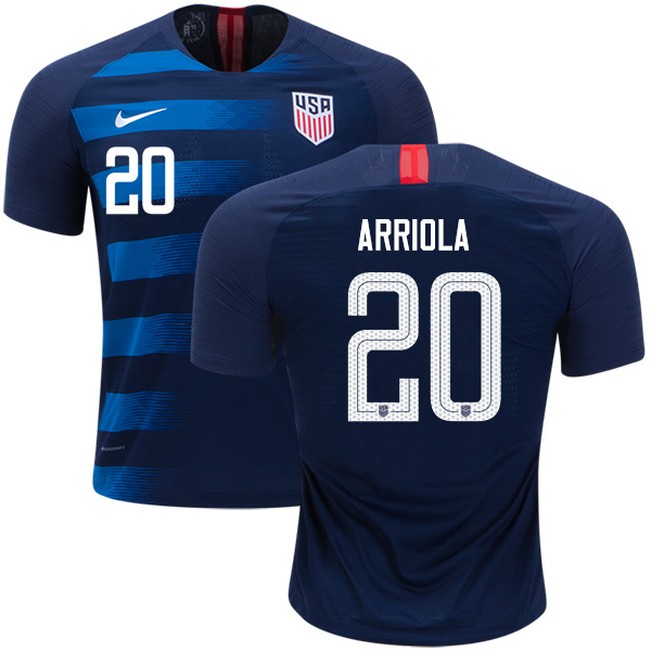 USA #20 Arriola Away Soccer Country Jersey