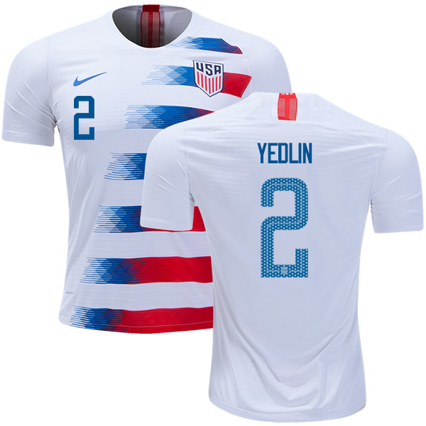USA #2 Yedlin Home Soccer Country Jersey