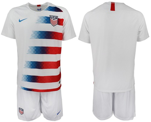 USA Blank Home Soccer Country Jersey