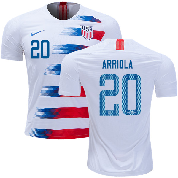 USA #20 Arriola Home Soccer Country Jersey