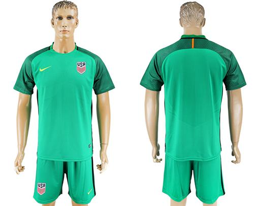 USA Blank Green Goalkeeper Soccer Country Jersey