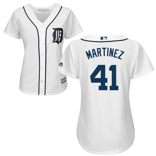 Tigers #41 Victor Martinez White Home Women's Stitched MLB Jersey