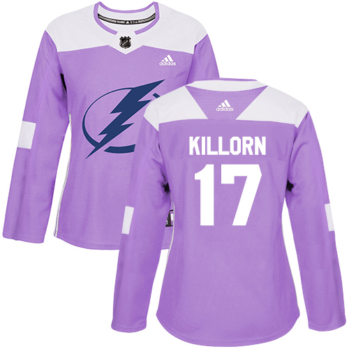 Adidas Lightning #17 Alex Killorn Purple Authentic Fights Cancer Women's Stitched NHL Jersey