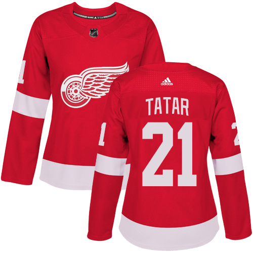 Adidas Red Wings #21 Tomas Tatar Red Home Authentic Women's Stitched NHL Jersey