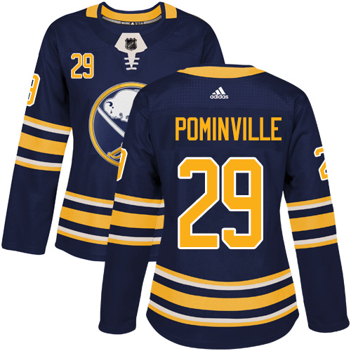 Adidas Sabres #29 Jason Pominville Navy Blue Home Authentic Women's Stitched NHL Jersey