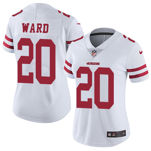 Nike 49ers #20 Jimmie Ward White Women's Stitched NFL Vapor Untouchable Limited Jersey