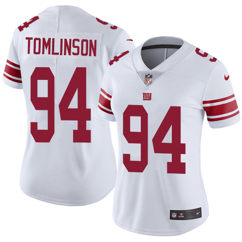 Nike Giants #94 Dalvin Tomlinson White Women's Stitched NFL Vapor Untouchable Limited Jersey