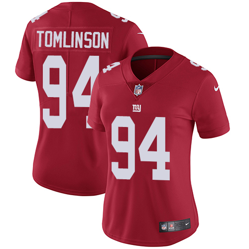 Nike Giants #94 Dalvin Tomlinson Red Alternate Women's Stitched NFL Vapor Untouchable Limited Jersey
