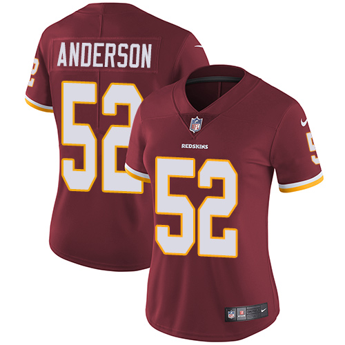 Nike Redskins #52 Ryan Anderson Burgundy Red Team Color Women's Stitched NFL Vapor Untouchable Limited Jersey