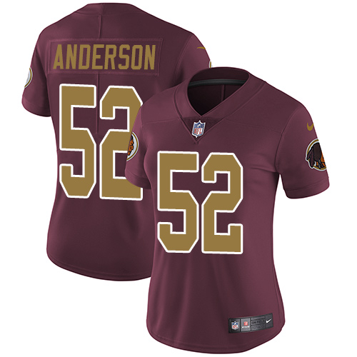 Nike Redskins #52 Ryan Anderson Burgundy Red Alternate Women's Stitched NFL Vapor Untouchable Limited Jersey