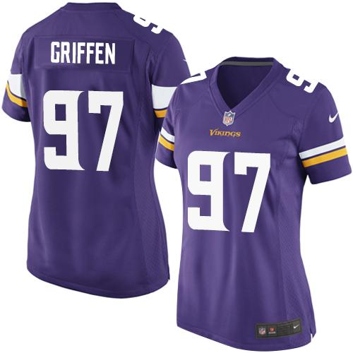 Nike Vikings #97 Everson Griffen Purple Team Color Women's Stitched NFL Elite Jersey