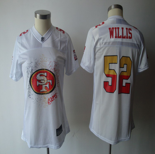 49ers #52 Patrick Willis White 2011 Women's Fem Fan Stitched NFL Jersey