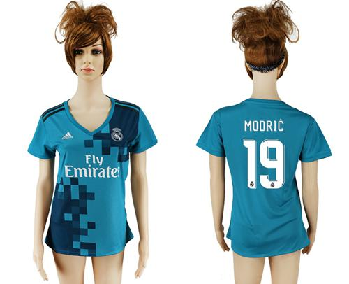 Women's Real Madrid #19 Modric Sec Away Soccer Club Jersey