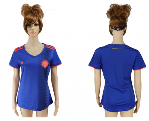 Women's Colombia Blank Away Soccer Country Jersey