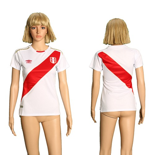Women's Peru Blank Home Soccer Country Jersey
