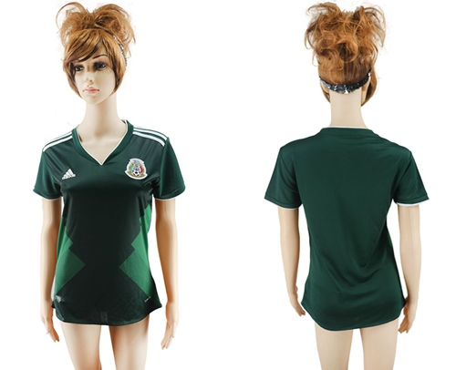 Women's Mexico Blank Home Soccer Country Jersey