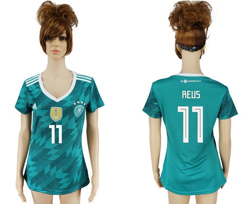 Women's Germany #11 Reus Away Soccer Country Jersey