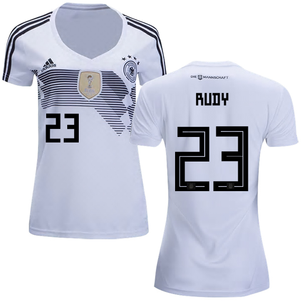 Women's Germany #23 Rudy White Home Soccer Country Jersey