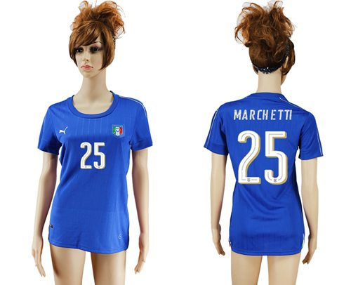 Women's Italy #25 Marchetti Home Soccer Country Jersey
