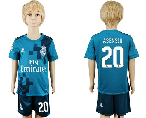 Real Madrid #20 Asensio Sec Away Kid Soccer Club Jersey