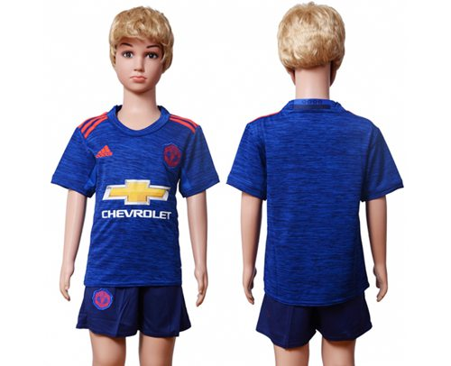 Manchester United Blank Away Kid Soccer Club Jersey