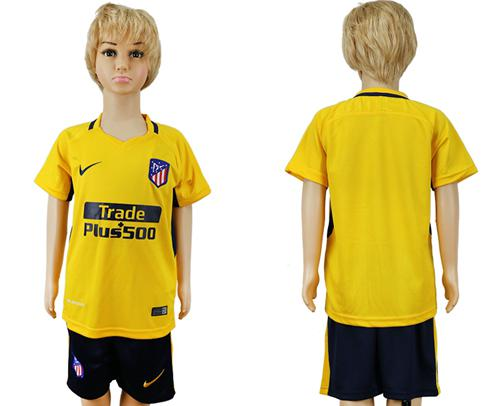 Atletico Madrid Blank Away Kid Soccer Club Jersey