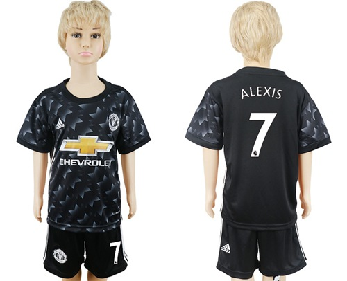 Manchester United #7 Alexis Away Kid Soccer Club Jersey