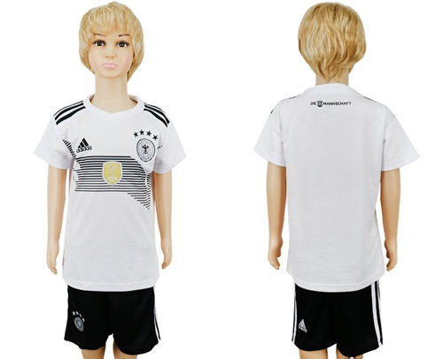Germany Blank White Home Kid Soccer Country Jersey