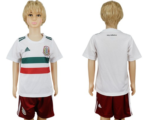 Mexico Blank Away Kid Soccer Country Jersey