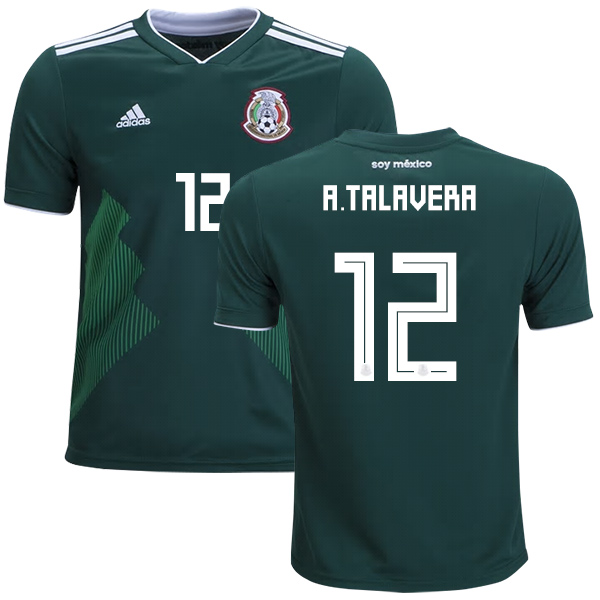 Mexico #12 A.Talavera Home Kid Soccer Country Jersey