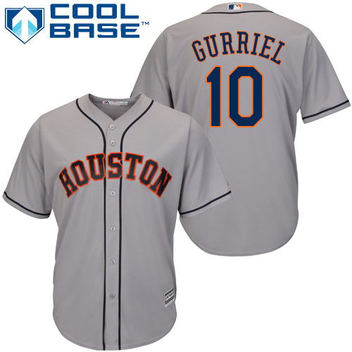Astros #10 Yuli Gurriel Grey Cool Base Stitched Youth MLB Jersey